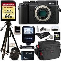 Panasonic DMC-GX8KBODY LUMIX GX8 Interchangeable Lens DSLM Camera Body Only + Transcend 64 GB High Speed + Polaroid 72