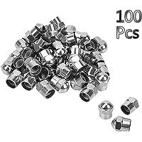 100 Tapones cromados universales para neumáticos de Coche