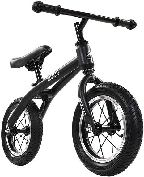 ZXNM Doble Rueda Bicicleta Niño Scooter,12 Pulgadas sin Pedal ...
