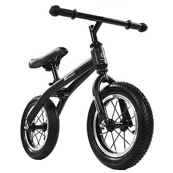 ZJPQ Doble Rueda Bicicleta Niño Scooter,12 Pulgadas sin Pedal ...
