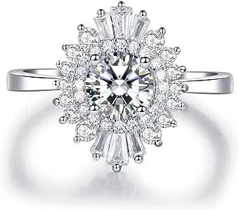 Princess Kylie Three Set Stone Cubic Zirconia Half Bezel Set Ring Rhodium Plated Sterling Silver
