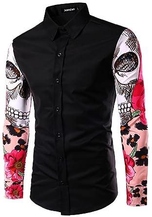 Jeansian Hommes Fashion Shirt Chemises Casual Manches Longues Men's Slim  Fit Shirts Tops 84E0: Amazon.fr: Vêtements et accessoires