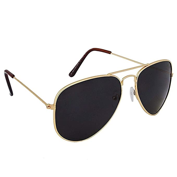 5d39ece514 Xforia Full Black UV Protected Aviator Police Sunglasses for Men   Boys   Amazon.in  Clothing   Accessories