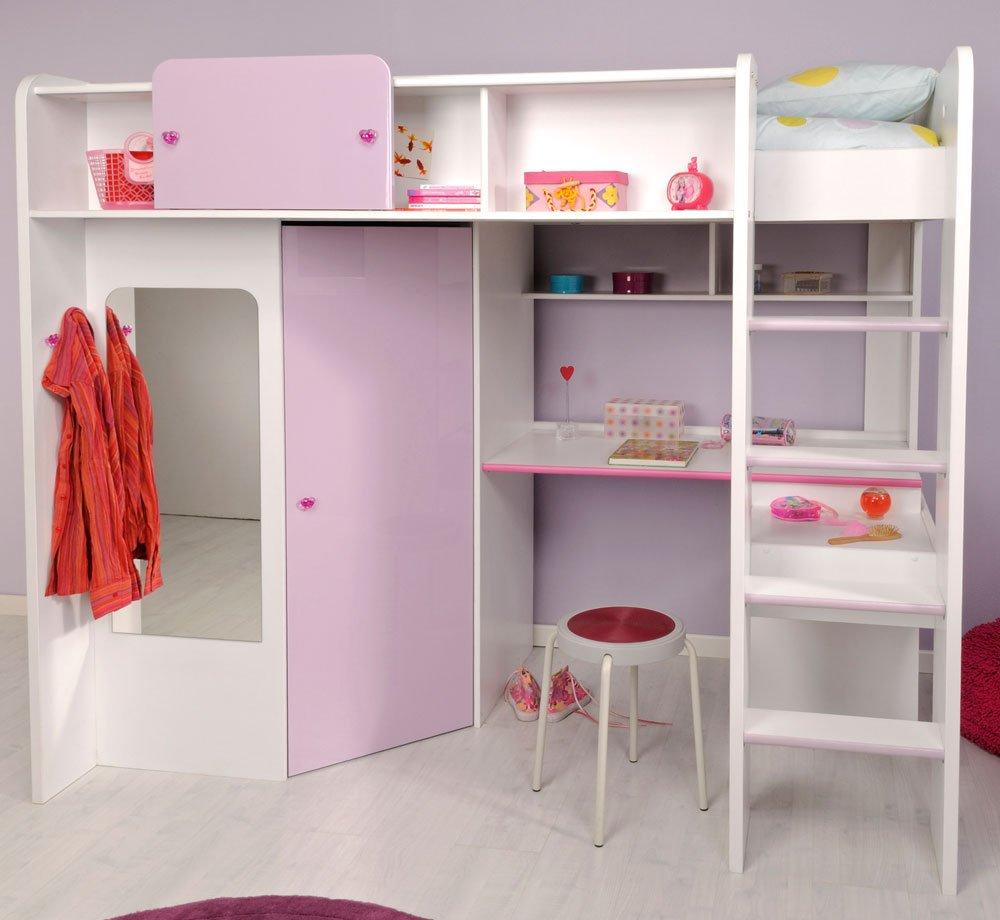 Parisot 2248lsur Set Möbel Kinderzimmer U2013 Mademoiselle Weiß Megev Holz  Kaufen