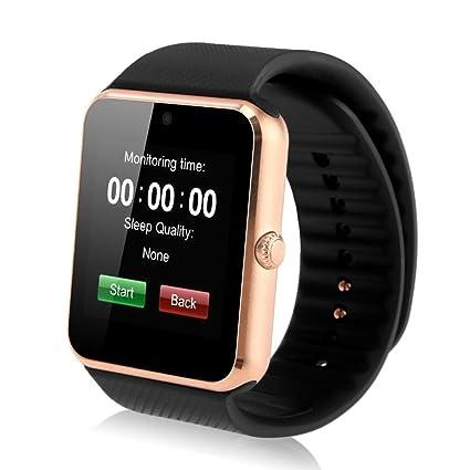 INDI GT08 Reloj Smartwatch Bluetooth Smartwatch Reloj deportivo Tarjeta SIM y tarjeta TF Cámara con podómetro