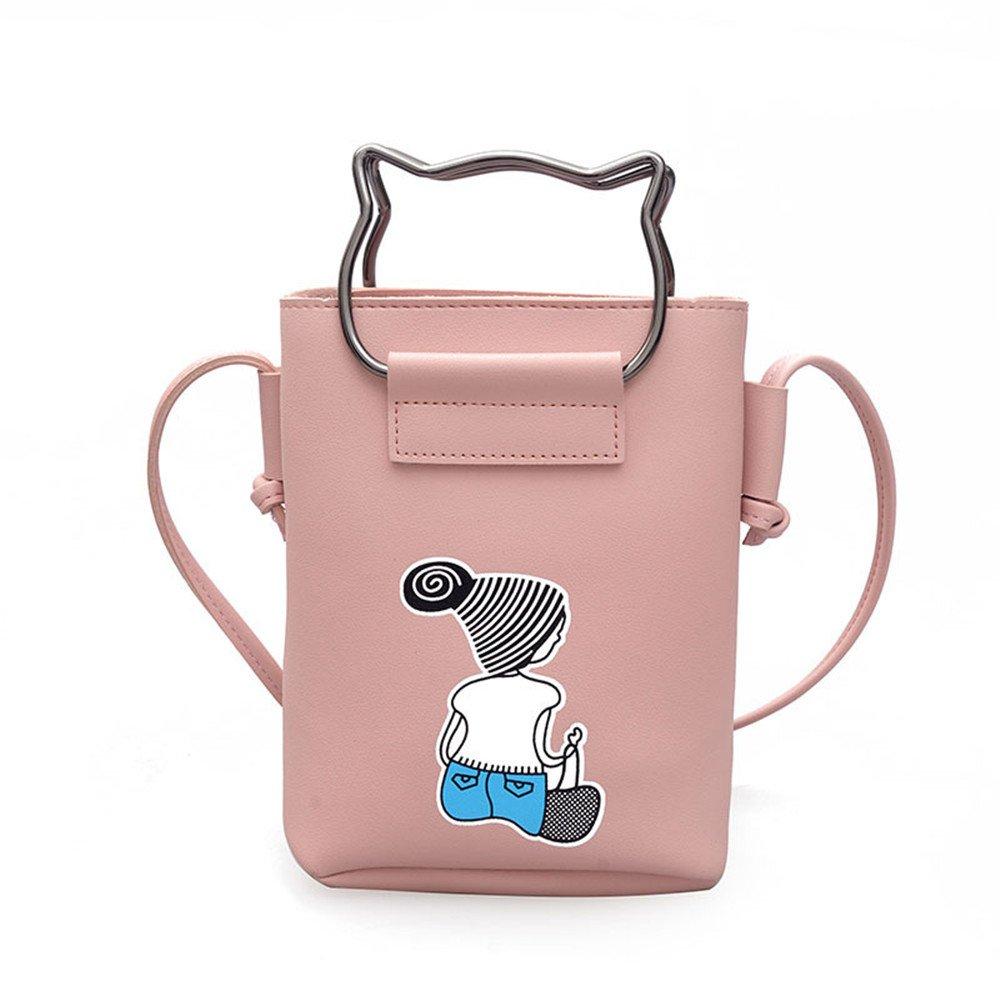 PEJGD Damen Handtasche Handtaschen Siebdruckbeutel der Frühlingsfrauen Nette Nette Nette tragbare Mini-Umhängetasche Mode Schultertasche Umhängetasche (Farbe   Rosa) B07NV87NQV Umhngetaschen Youzi Produkte 1ec989