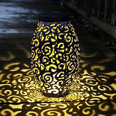 Farol Solar Exterior Jardin, MMTX LED Lámpara Solar Jardín Luz Colgante Solar del Jardín Luces de Linterna Impermeable Portátil para Jardín Patio al Aire Libre Partido Decorativo: Amazon.es: Iluminación