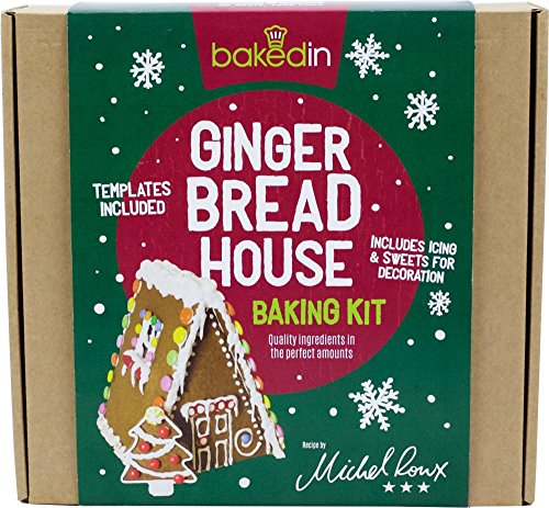 BakedIn Gingerbread House Baking Kit Includes Templates Icing & Sweets