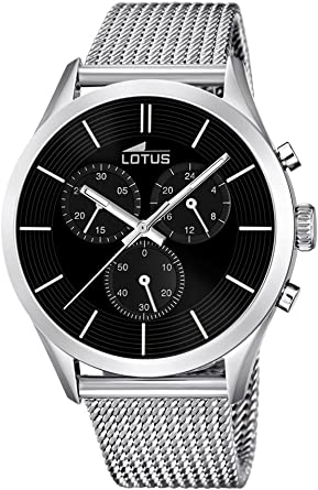 Lotus 18117/2 - Reloj para Hombre, Cuarzo, cronógrafo, cronógrafo, Correa de Acero Inoxidable, Color Plateado: Amazon.es: Relojes