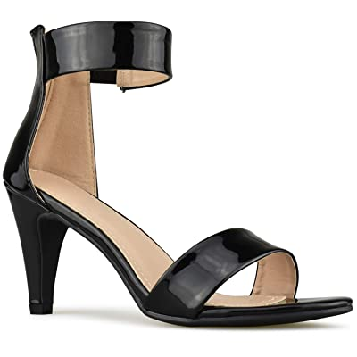 Premier Standard - Women's Single Band Chunky Heel Sandal with Ankle Strap | Sandals