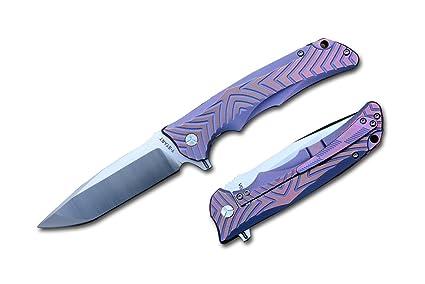 Amazon.com: y-start VG10 óxido de color hoja de cuchillo de ...