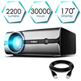 """CiBest Projector, BL45 LED Video Projector +80% Lumens for 170"""" Home Theater Support HD 1080P HDMI VGA AV USB for Laptop iPhone/iPad Smartphone TV Stick Xbox, 2018 Newest Upgraded Home Mini Projector"""