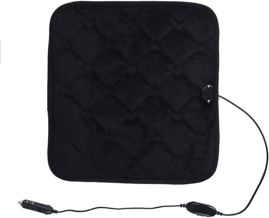 Per Car Heat Pad Heating Seat Cushion Vehicle Seat Heater 3 Gears Adjustable Temperature-Black,S
