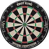 Viper Shot King Sisal/Bristle Dartboard with Staple-Free Bullseye