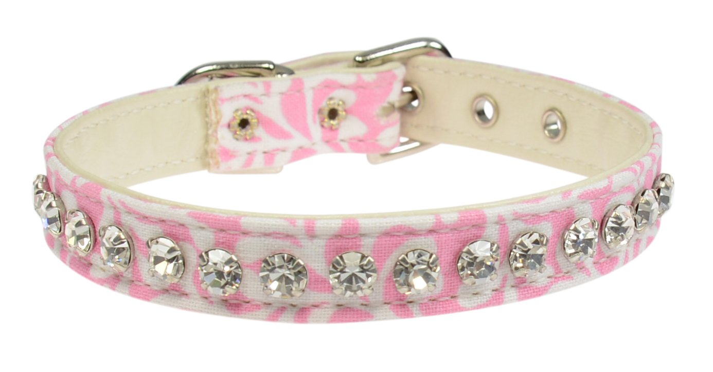 Evans Collars 1 2  Jeweled Collar, Size 12, Plume, Pink