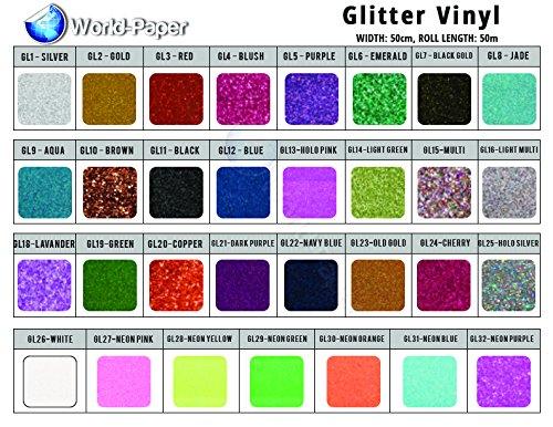 Glitter Heat Transfer VInyl Sheets 10'' x 12'' 15 Colors Bundle Grab Bag