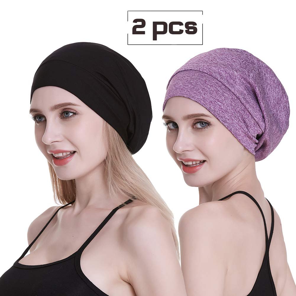 Slap Cap,Women Natural Hair Large Head Satin Lining Night Cool Sleeping Slouchy Beanie