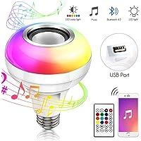 Haofy Bombilla Bluetooth Altavoz, E26 / E27 RGB