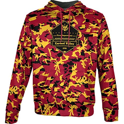 nice ProSphere Boys' Cachagua Fire Protection District Fire Department Camo Hoodie Sweatshirt big discount
