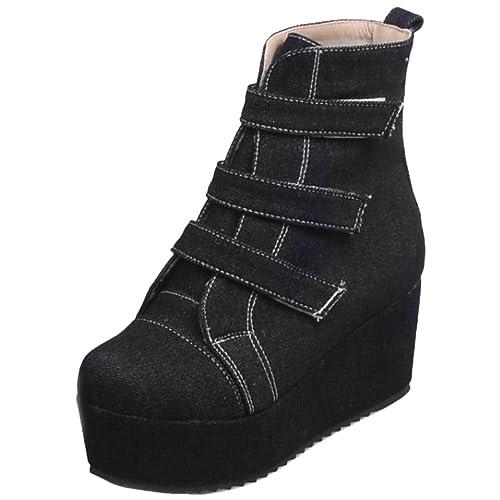 RAZAMAZA Botines de Tacon Cuna para Mujer: Amazon.es: Zapatos y complementos