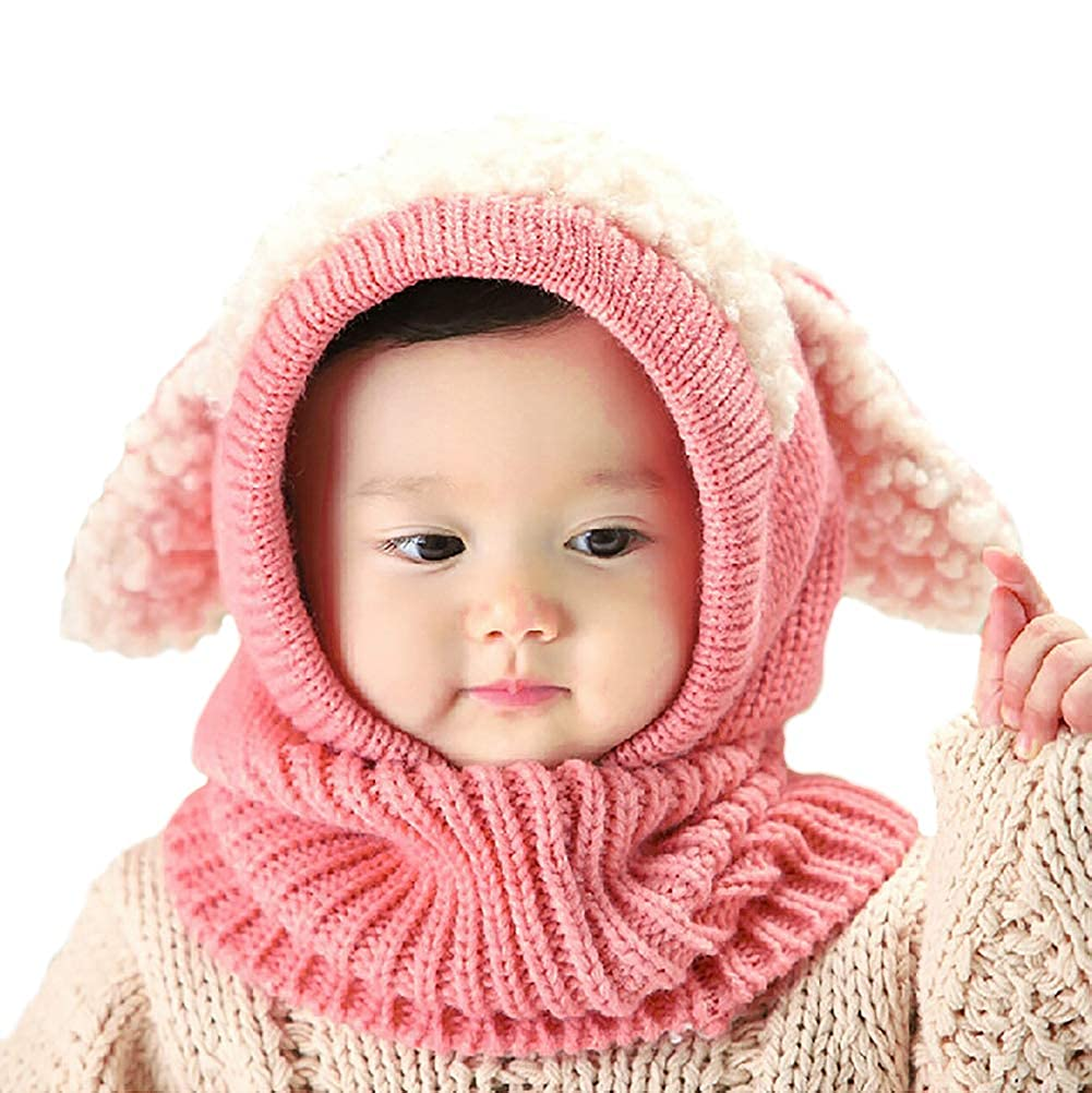 YSense Baby Girls Boys Winter Warm Hat Scarf Earflap Hood Scarves Skull Caps 004-BHL-2