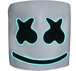 Halloween Mascaras, DJ Algodón Caramelo Sombrerería Frío Ligero Brillar Máscara Careta De, Adecuado Para Halloween Otro Vacaciones Partido Partido Carnaval, 9.1x 9.1 Pulgadas (Color : Green light) : Amazon.es: Hogar