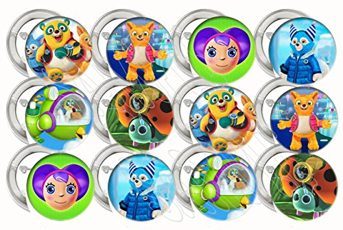 "Special Agent Oso Party Favors Supplies Decorations Collectible Metal Pinback Buttons Pins, Large 2.25"" -12 pcs - Special Agent Oso Party Supplies"
