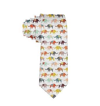 TIETIE Corbata formal de elefante de dibujos animados, corbatas ...