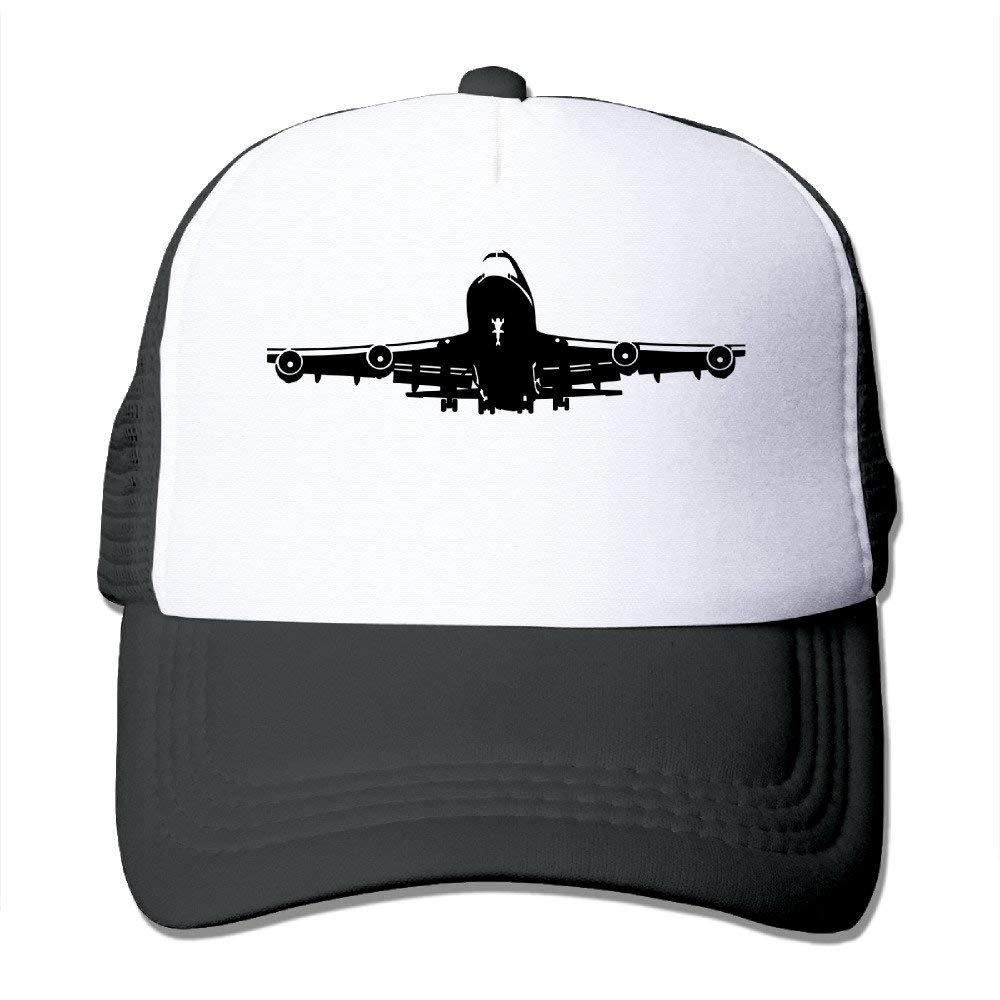 YOENB Boeing-747 Printed Hat Summer Mesh Cap with Adjustable Snapback Strap with 5 Colors