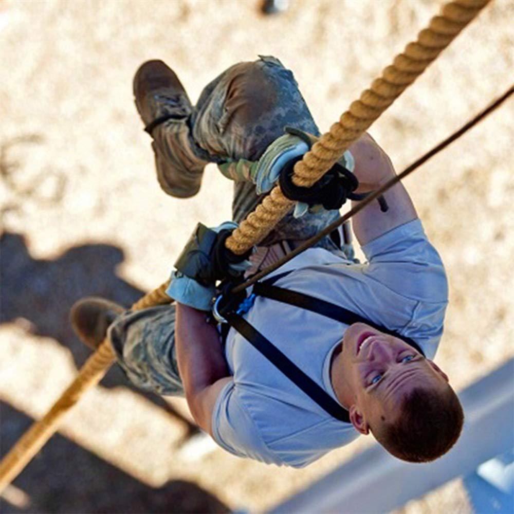 30 Fu/ß x 1,5 Zoll Kampfseil f/ür Outdoor EYLIFE Fitness-Kletterseil f/ür das Training und Indoor-Fitness/übungen f/ür das Krafttraining