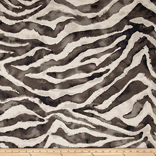 P Kaufmann Jungle Cat Basketweave Fabric, Ebony