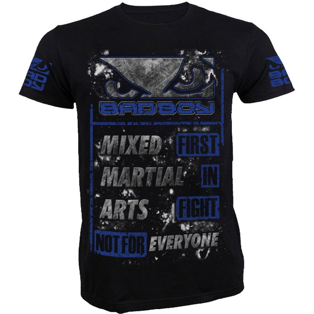 T-Shirt Bad Boy MMA - Blue - Limited Edition MMA Fitness Manica Corta Uomo