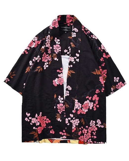 Chaqueta Japonesa Flor De Retrato del Estilo del Kimono De ...