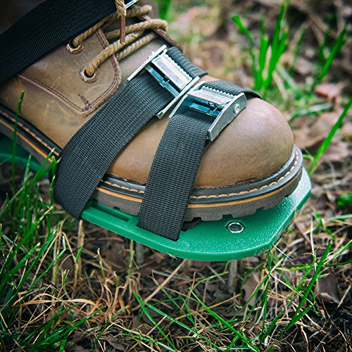 SiGuTie Lawn Aerator Shoes, Spiked Lawn Aerating Sandals Heavy Duty Garden Tool Metal Buckles 3 Adjustable Straps Universal Size Aerating Garden Yard, Extra Wrench Instructions by SiGuTie (Image #6)
