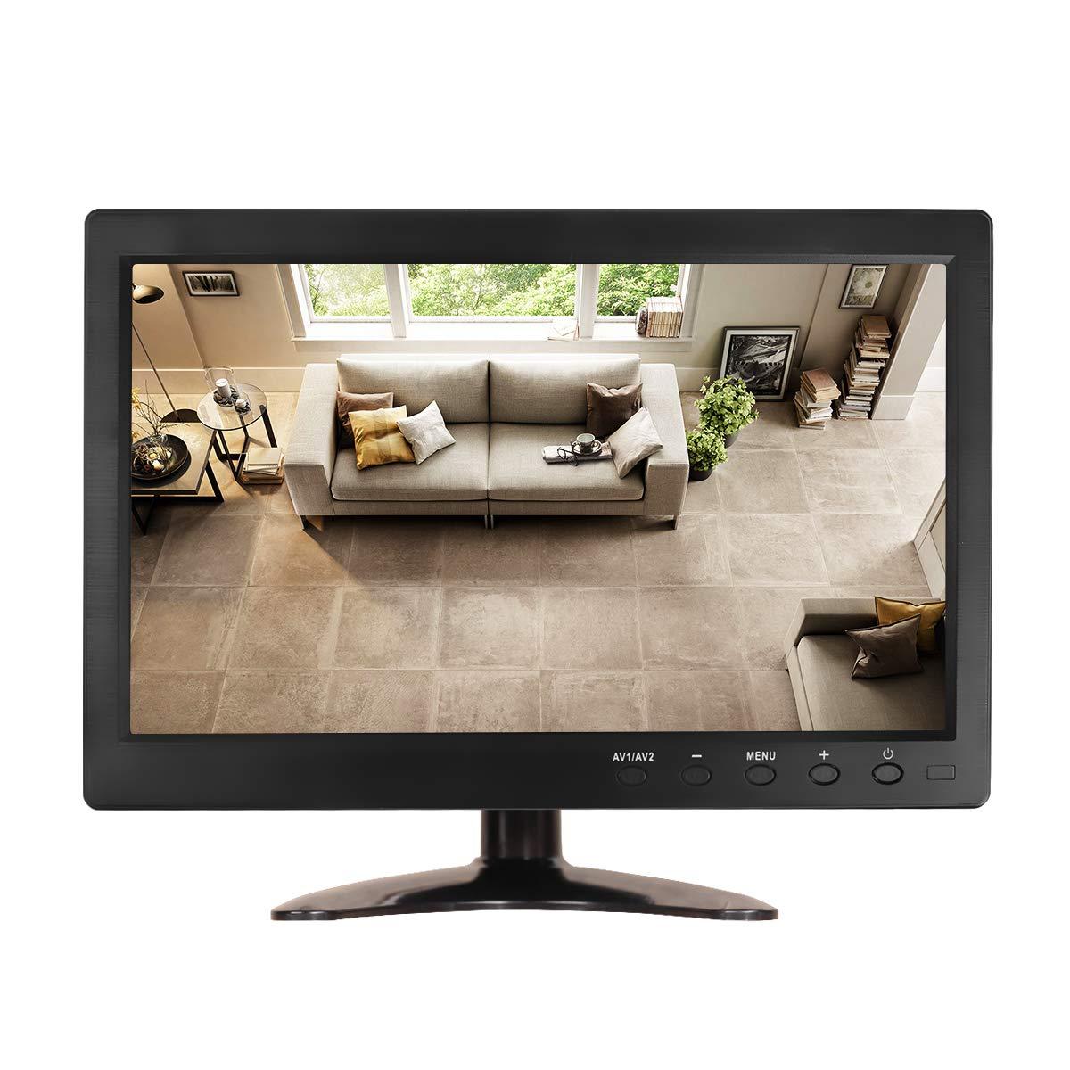 JOHNWILL 10.1 inch CCTV Security Monitor HD 1366X768 Portable HDMI Monitor with HDMI/VGA/AV-BNC/USB Input for PC, Laptop,TV Box,CCTV, Camera,Home Security System, Raspberry PI