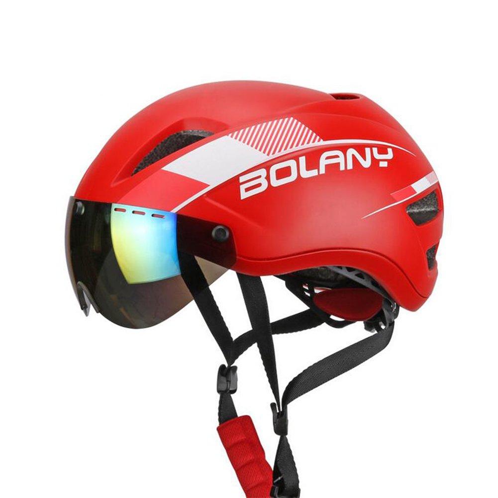 LAIABOR Fahrradhelm Abnehmbare Magnetische Schutzbrillen Helme Männer und Frauen 280G 58-61Cm Allround-Helme