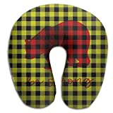 Scorpio Plaid Bear Buffalo Brace Travel Pillow Spa U SHAPE For Flying Teen