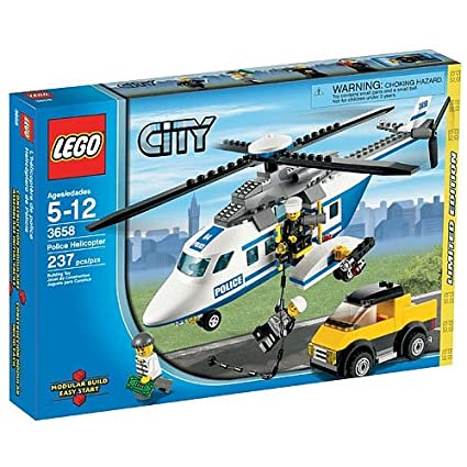 Lego City Limited Edition Set 3658 Police Helicopter Stacking