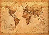 World Map- Antique Giant Poster 55 x 39in Picture