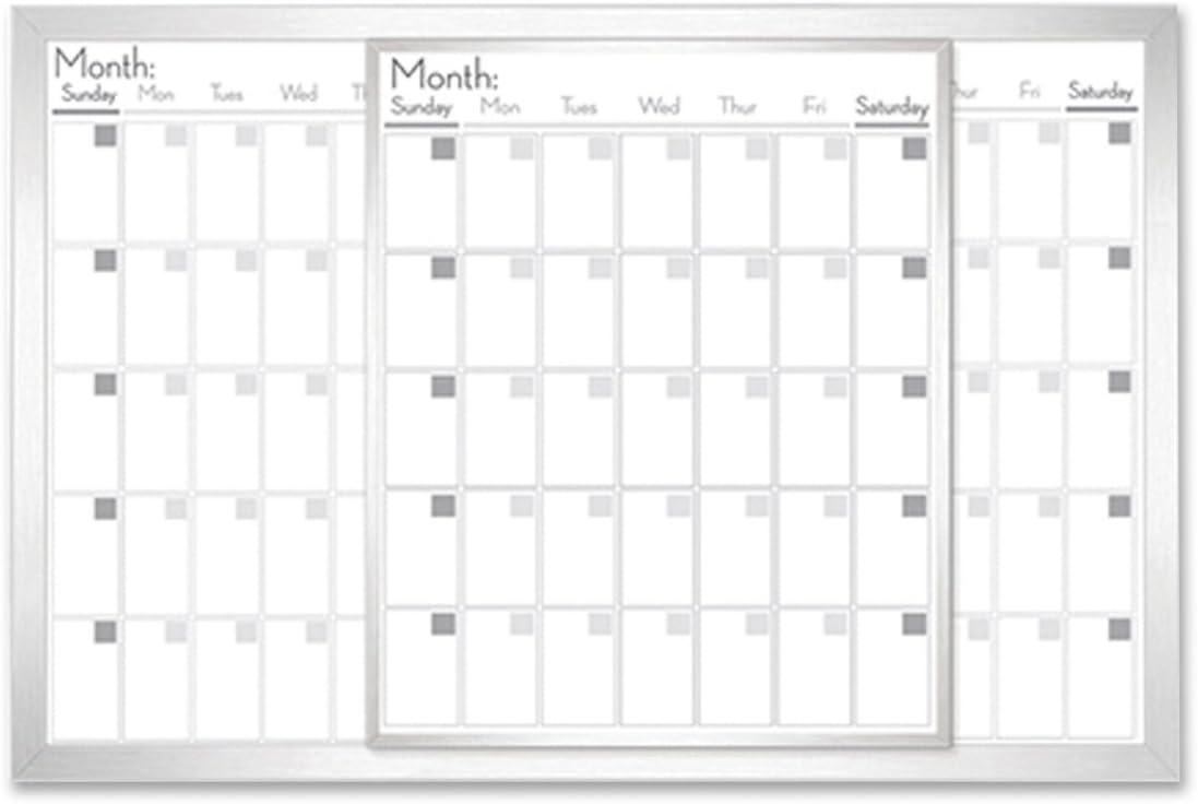 "Lorell Dry-Erase Magnetic Calendar Board, 24""x36"", Frost (LLR52503)"