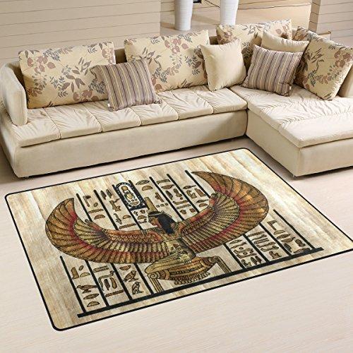 Ancient Egyptian Decor - Yochoice Non-slip Area Rugs Home Decor, Vintage Retro Ancient Egyptian Parchment Floor Mat Living Room Bedroom Carpets Doormats 31 x 20 inches