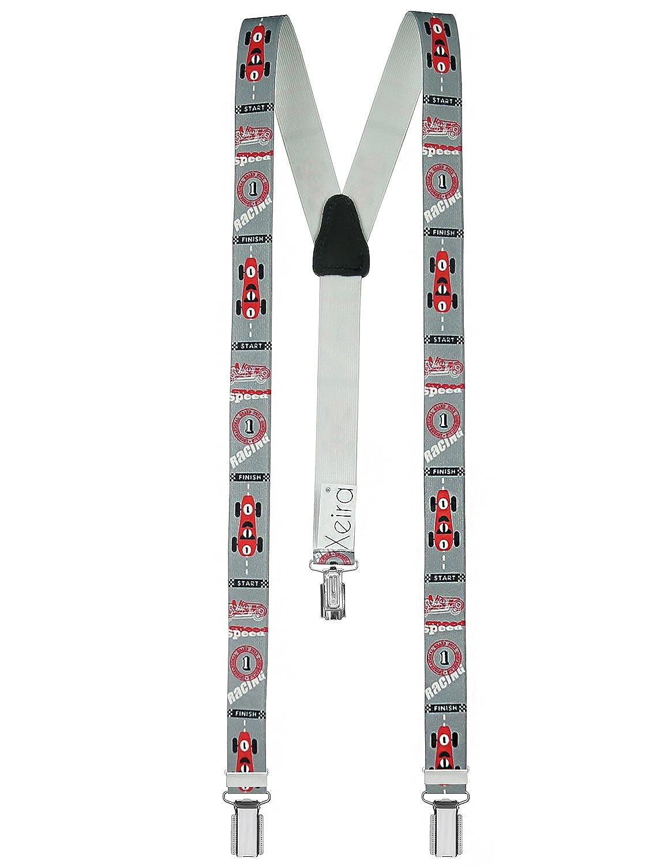Racer Design XEIRA Braces//Suspender for Children Grey Red//Brown Yellow//Beige Green