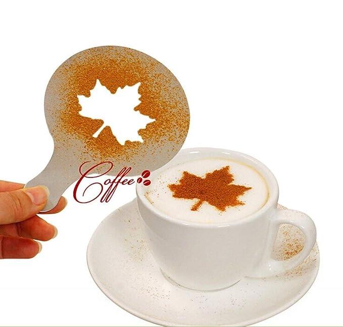 yijia 16 PCS/Set Form Kaffee Milch Kaffee Barista Cappuccino ...