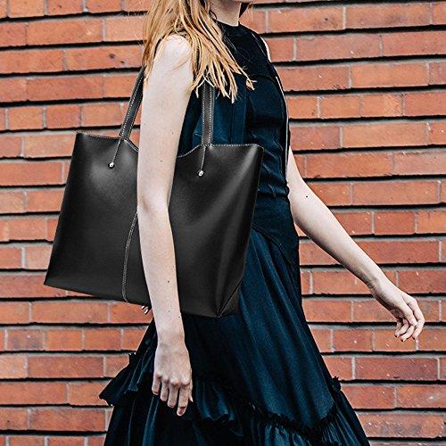 Handbag with Bag Shoulder Travel Black Fashion Womens Beach Wristlet Afq66v