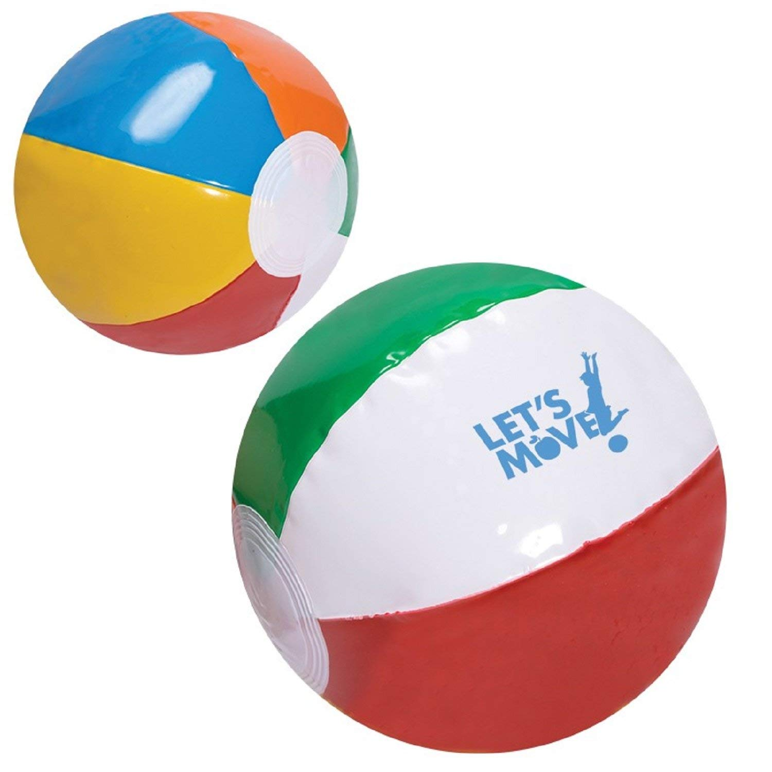 Ummah Promotions 250 Personalized 6'' Multi Color Beach Ball Printed with Your Logo or Message