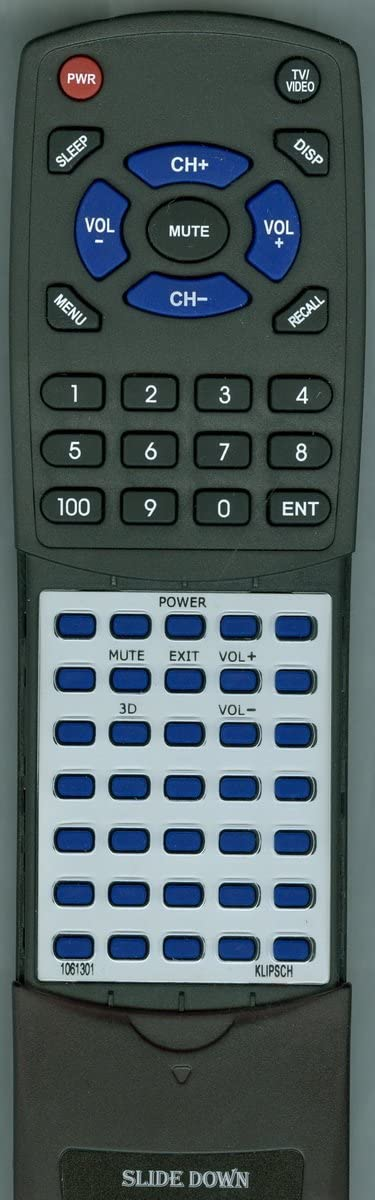 Power BAR Elite 1061301 Replacement Remote Control for Klipsch R10B