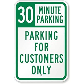 Amazon.com: Parking de 30 minutos – Señal de aparcamiento ...