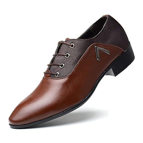 SRY-Shoes Scarpe Stringate da Uomo semplici Scarpe Oxford Nere con  Cinturino in Pelle Traspirante Vamp  Amazon.it  Scarpe e borse 5ec681cdb75