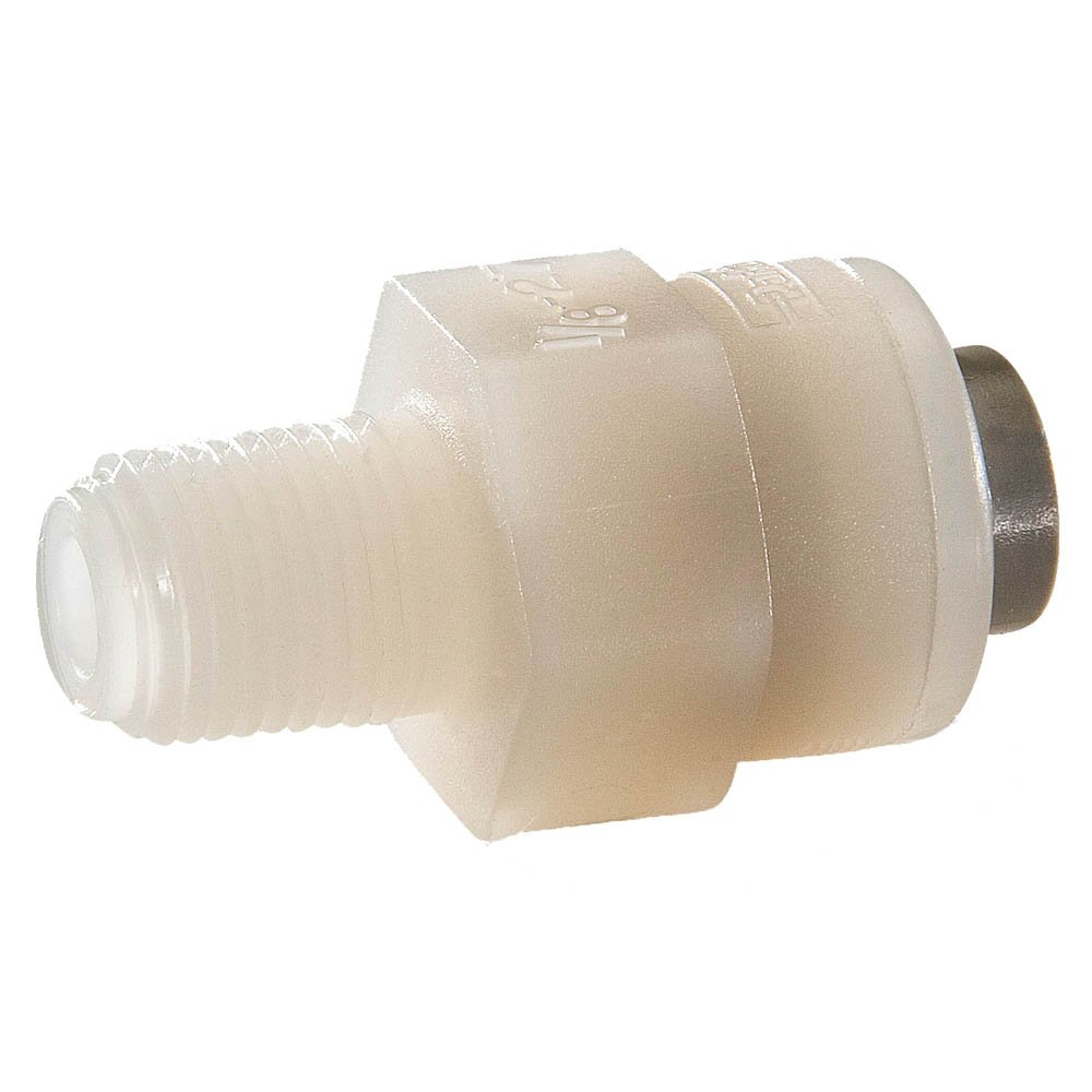 1//4 Kynar Parker F4MC4-MG-pk5 Trueseal Push-to-Connect All Plastic FDA Compliant Fitting Pack of 5 Tube to Pipe Push-to-Connect Connector Pack of 5 1//4