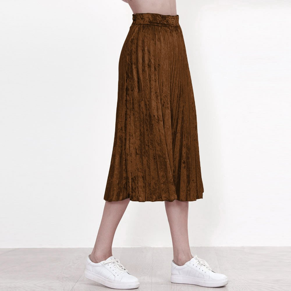 Xmiral Midi Falda Plisada para Mujer, Skirt Clásico de A-línea ...